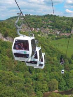 Heights of Abraham Cable Cars, Caverns & Hilltop Park, Matlock Bath, Derbyshire